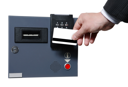 alt text for a picture of key card access