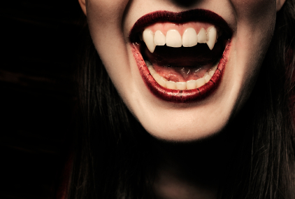 vampire smile with fangs