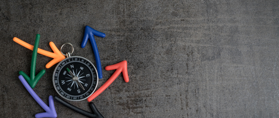 alt text image of a compass