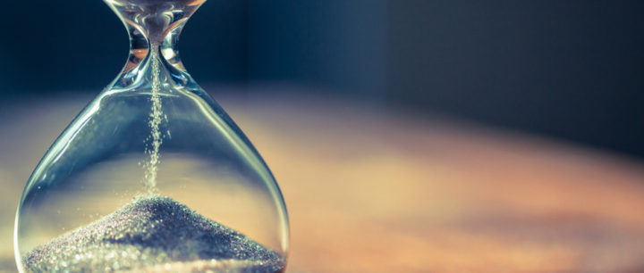 alt text image of hourglass with sand representing wasted time